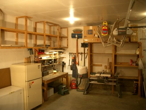 Plenty of Garage Work Area