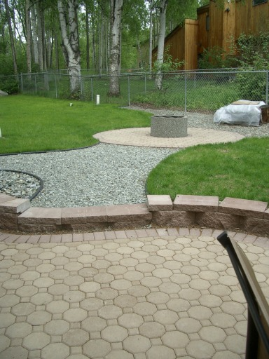 Rock Path to Fire Pit